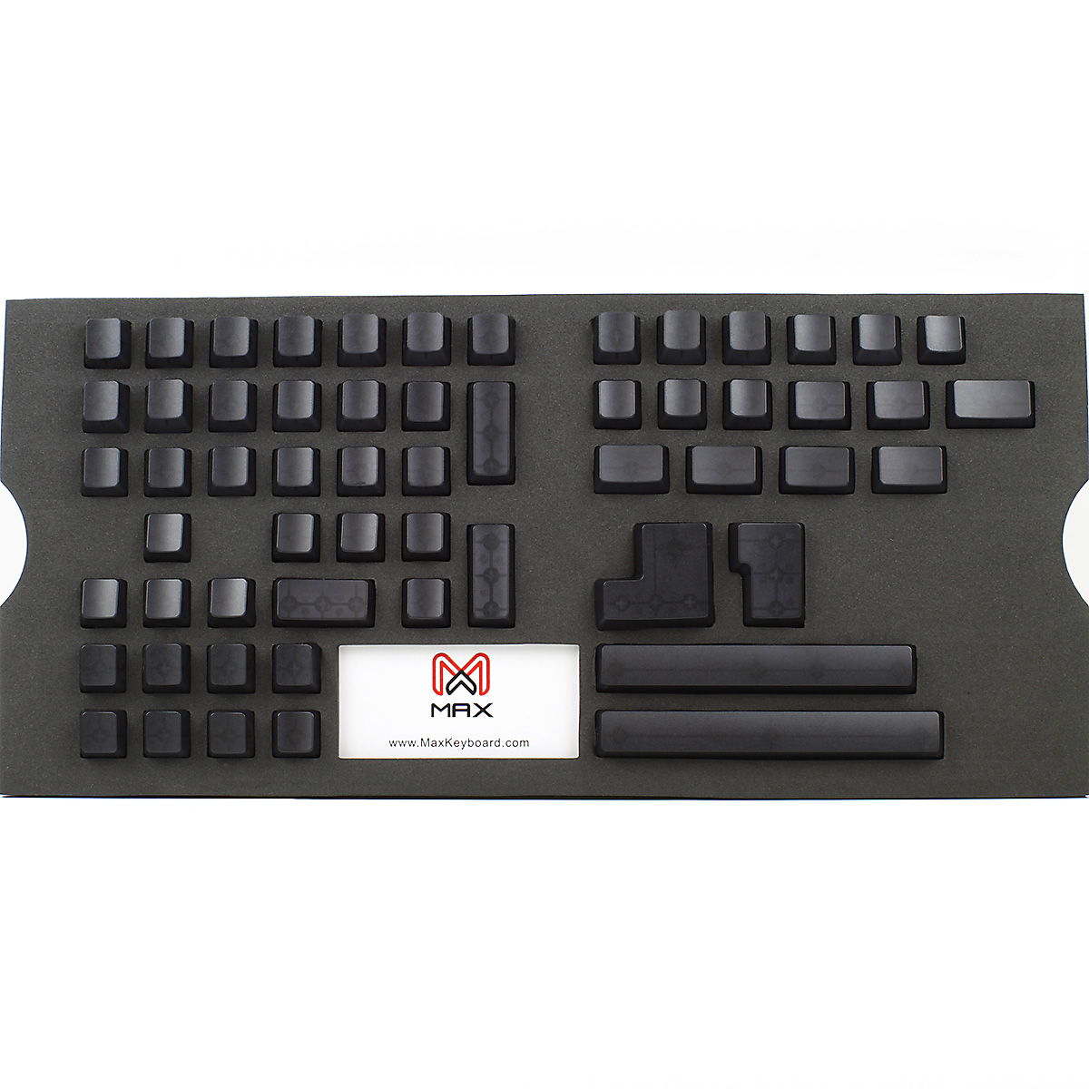 Max Universal Cherry Mx Black Translucent Full Keycap Set Blank Ducky One Non Backlit Blue Keyboard Clear No Print
