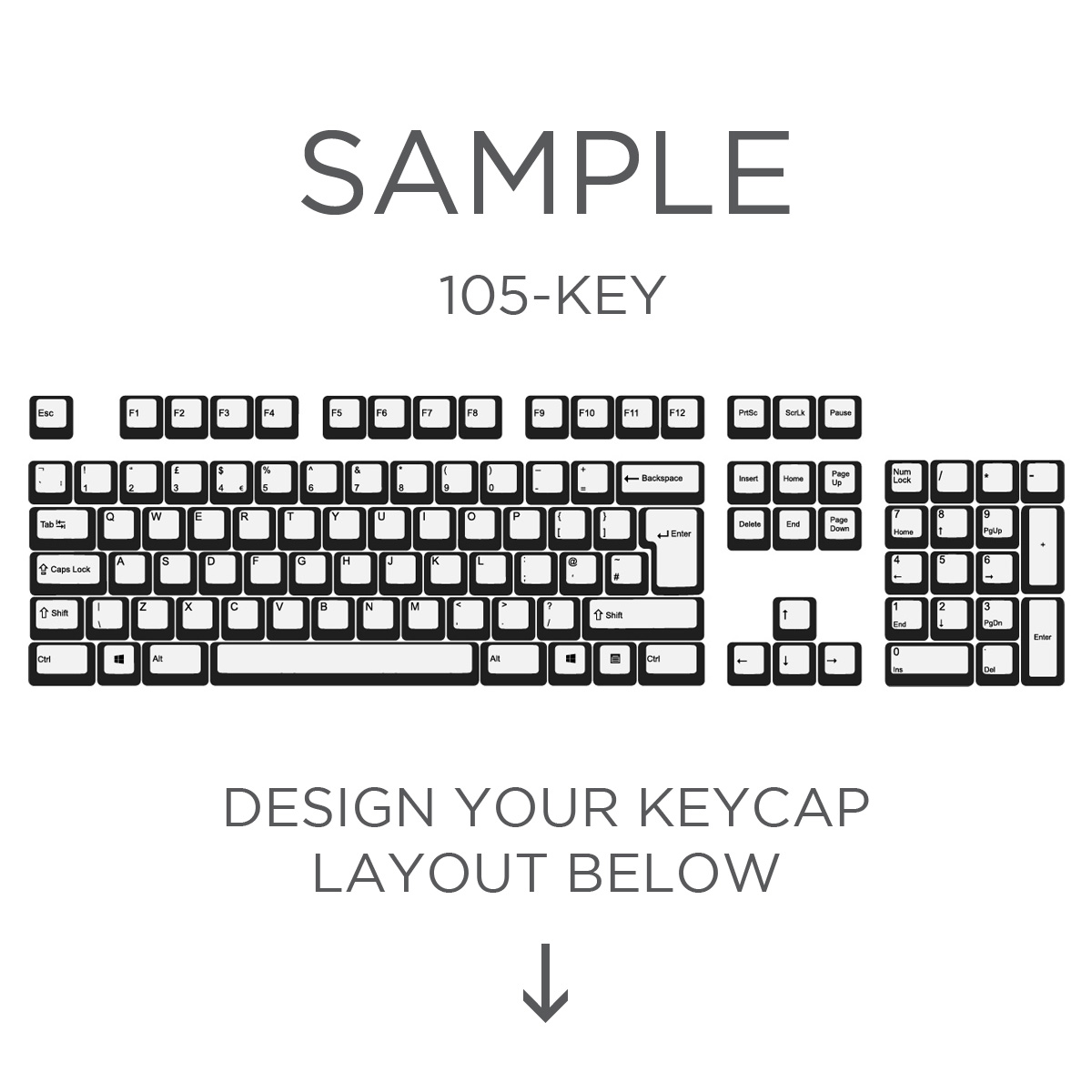 640f17e4ce6 Max Keyboard ISO Custom White Translucent Top Backlight Keycap Set ...