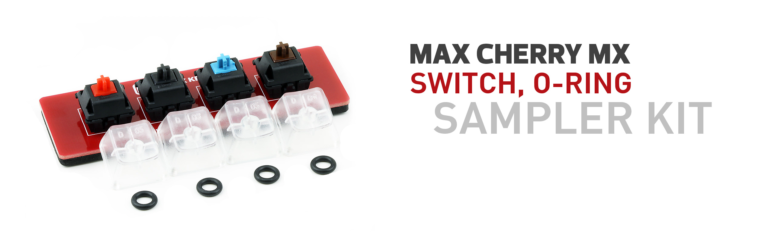 Max Keyboard Cherry MX Switch, O-Ring Sampler Tester Kit