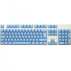 Max Keyboard ISO 105 Key Cherry MX Blank Keycaps (Blue Color with 6.25x Unit Spacebar)