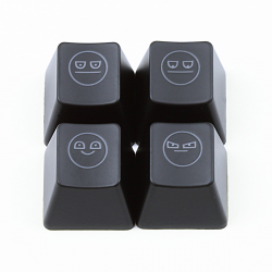"Max Keyboard R4 / B profile row 1x1 Cherry MX ""Unamused face"" Custom Backlight Keycap Set"