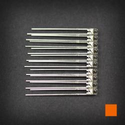 Max Keyboard Orange 3mm Flangeless Replacement LED for Backlit Mechanical Keyboard (10 pcs)
