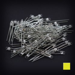 Max Keyboard Yellow 3mm Flangeless Replacement LED for Backlit Mechanical Keyboard (110 pcs)