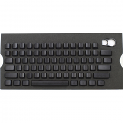 Max Keyboard Universal Cherry MX Translucent Clear Black Full Blank Keycap Set (No Print)