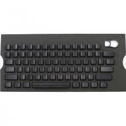 Max Keyboard Universal Cherry MX Translucent Clear Black Full Blank Keycap Set (No Print)
