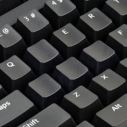 AN EXAMPLE: Max Keyboard Custom Black Translucent Cherry MX Blank Keycap Set for ESC, W,A,S,D or E,S,D,F and Arrow Keys