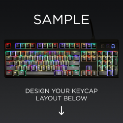 AN EXAMPLE: Max Keyboard ANSI Layout Custom Backlight Keycap Set