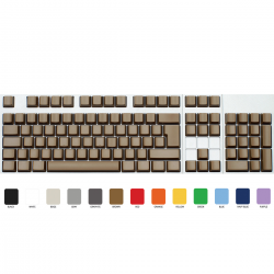 Max Keyboard ISO 105 Key Cherry MX Blank Keycaps (Light Brown Color with 6.25x Unit Spacebar)