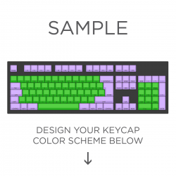 Max Keyboard ISO Layout Custom Color Cherry MX Full Replacement Keycap Set (Front Side Print)