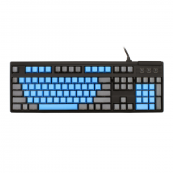 MAX Nighthawk 104-Key PBT Blue/Gray Side Print Mechanical Keyboard