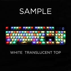 MAX Keyboard Custom White Translucent Top Backlight Keycap Set
