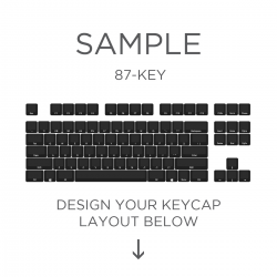 AN EXAMPLE: Max Keyboard ANSI Layout Custom Backlight Cherry MX Keycap Set (SIDE PRINT)