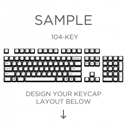 MAX Keyboard ANSI Custom White Translucent Top Print Backlight Keycap Set