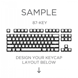 AN EXAMPLE: MAX Keyboard Custom White Translucent Side Print Backlight Keycap Set (87-KEY TKL)