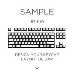 AN EXAMPLE: MAX Keyboard ANSI Custom White Translucent Top Print Backlight Keycap Set (87-KEY TKL)