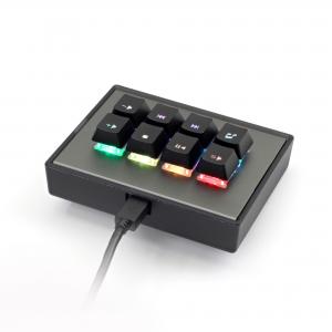MAX FALCON-8 RGB Programmable mini macropad mechanical keyboard (Assembled)