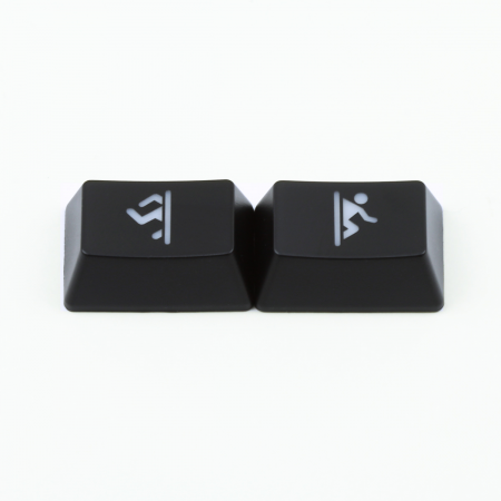 "Max Keyboard R1 / B profile row 1x1.5 Cherry MX ""Portal"" Custom Backlight Keycap Set"