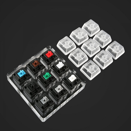 Max Keyboard Keycap, Cherry MX Switch, O-Ring Pro Sampler Tester Kit
