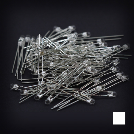 Max Keyboard White 3mm Flangeless Replacement LED for Backlit Mechanical Keyboard (110 pcs)