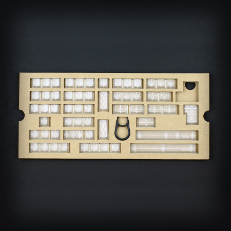 Max Universal Cherry MX Clear Translucent Full Keycap Set (Blank)