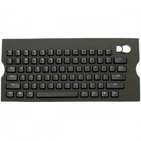 Max Universal Cherry MX Translucent Clear Black Full Keycap Set (Top Print)