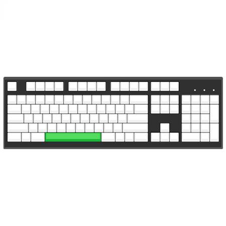 6x Spacebar Cherry MX Keycap (1x6.0)