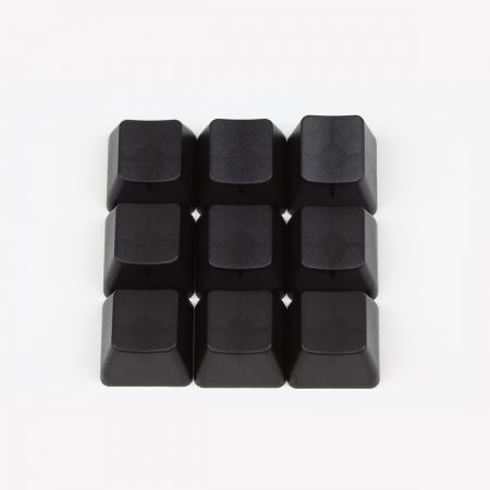 Max Keyboard Custom Black Translucent Cherry MX Blank Keycap Set for ESC, W,A,S,D or E,S,D,F and Arrow Keys
