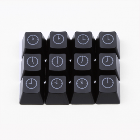 "Max Keyboard R4 / E profile row 1x1 Cherry MX ""Clock"" Custom Backlight Keycap Set"
