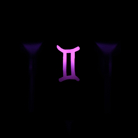 "Max Keyboard Custom R4 Zodiac Horoscope ""Gemini"" Sign Backlight Cherry MX Keycap"