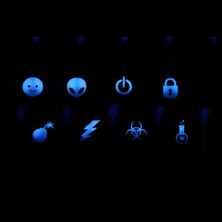 Max Keyboard R4 1x1 Cherry MX Custom Backlight Keycap Set 2