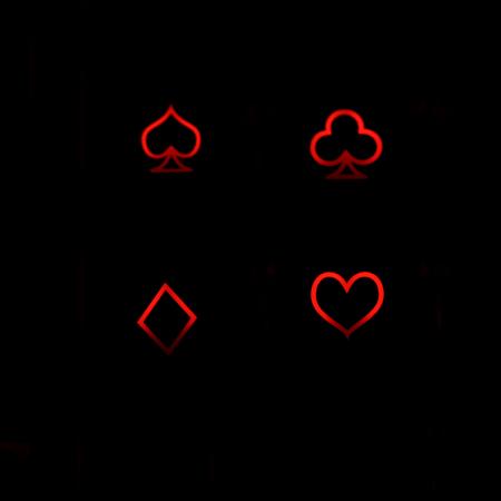 "Max Keyboard R4 / B profile row 1x1 Cherry MX Poker ""Cards Symbols"" Custom Backlight Keycap Set"