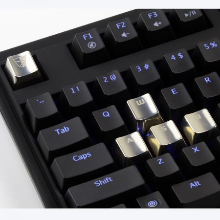 AN EXAMPLE: Cherry MX Metal (Zinc) Keycap Set for ESC & WASD Keys