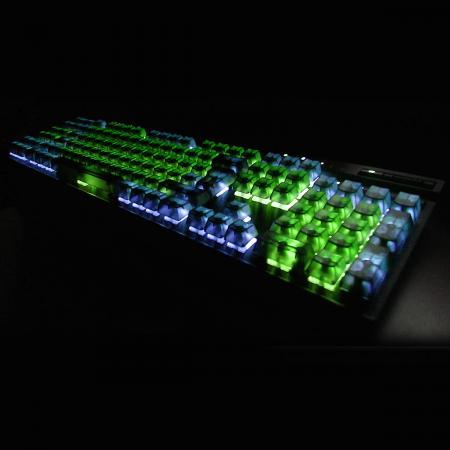 Max Keyboard Universal Cherry MX Translucent Clear Black Keycap Set