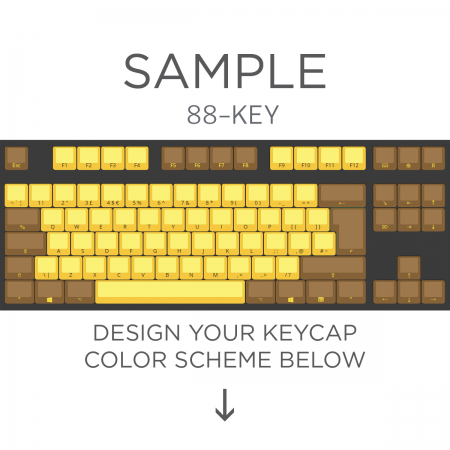 Max Keyboard ISO 87-Key Layout Custom Color Cherry MX Full Replacement Keycap Set (Front Side Print)