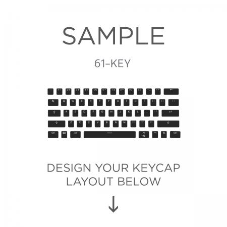 AN EXAMPLE: Max Keyboard ANSI 61-Key Layout Custom Backlight Keycap Set