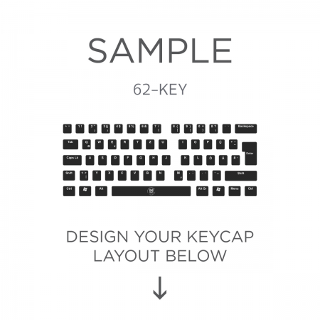 AN EXAMPLE: Max Keyboard ISO 62-Key Layout Custom Backlight Keycap Set