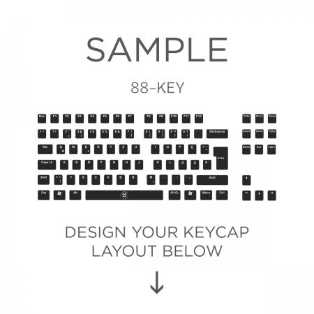 AN EXAMPLE: Max Keyboard ISO 88-Key Layout Custom Backlight Keycap Set