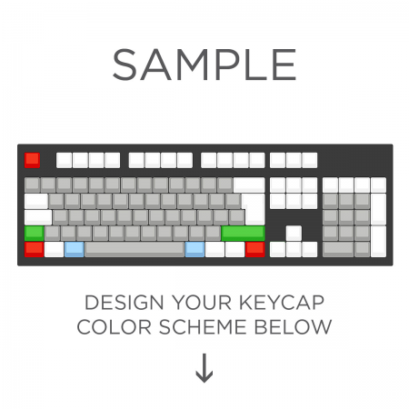 Max Keyboard ISO 105-Key Layout Custom Color Cherry MX Full Replacement Keycap Set (Blank)