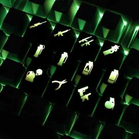 Example: Counter Strike CS:GO custom backlight keycaps
