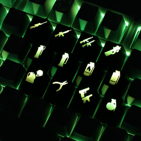 Example: Counter Strike CS:GO custom backlight keycaps