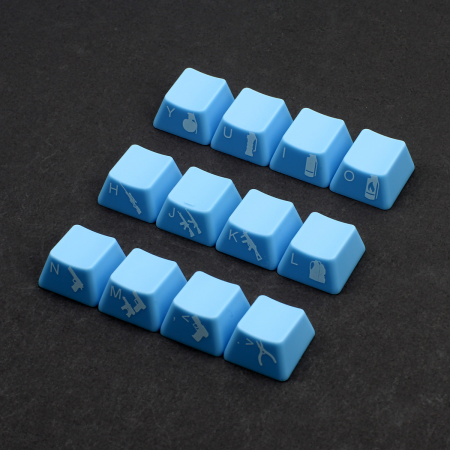 Example: Max Keyboard Custom Side Printed Cherry MX Keycaps