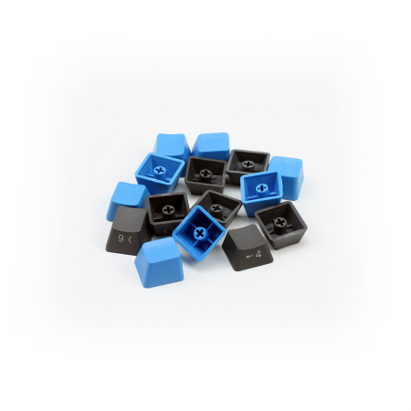 MAX Nighthawk 104-Key 1.5mm Thick PBT Gray/Blue Side Print