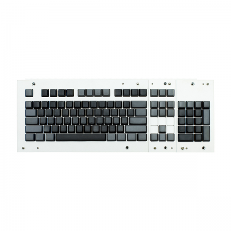 MAX ANSI Bi-Color Black/Gray PBT 104-key Cherry MX Keycap Set with 6.25x spacebar bottom row