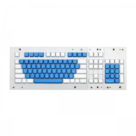 MAX ANSI Bi-Color Blue/White PBT 104-key Cherry MX Keycap Set with 6.0x spacebar bottom row