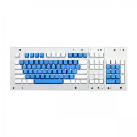 MAX ANSI Bi-Color Blue/White PBT 104-key Cherry MX Keycap Set with 6.0x spacebar bottom row