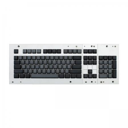 MAX ANSI Bi-Color Gray/Black PBT 104-key Cherry MX Keycap Set with 6.25x spacebar bottom row