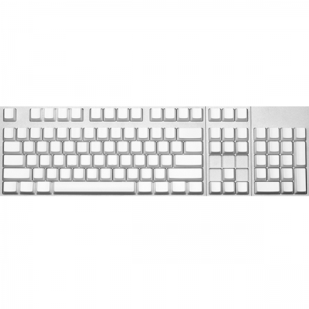 Max Keyboard ANSI 104-Key Cherry MX Blank Keycaps (White Color with 6.25x Unit Spacebar)