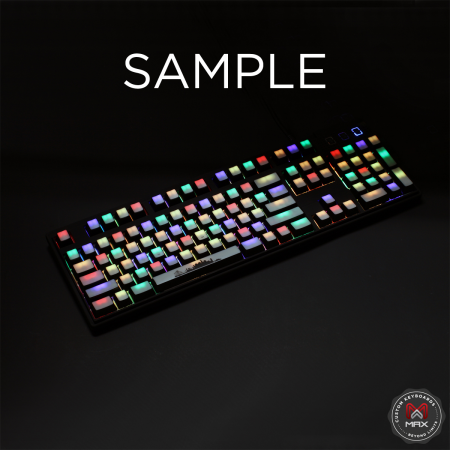 AN EXAMPLE: MAX Keyboard Custom White Translucent Top Backlight Keycap Set