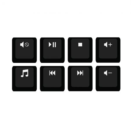 Max Keyboard R4 1x1 Media F-Key Shortcuts Keycap Set