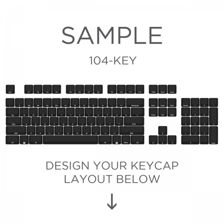 Max Keyboard ANSI Layout Custom Backlight Cherry MX Keycap Set (SIDE PRINT)